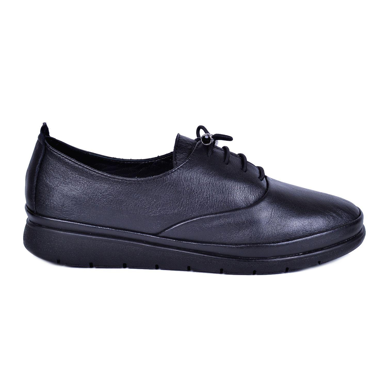 Siyah Kadın Deri Ayakkabı 2202
