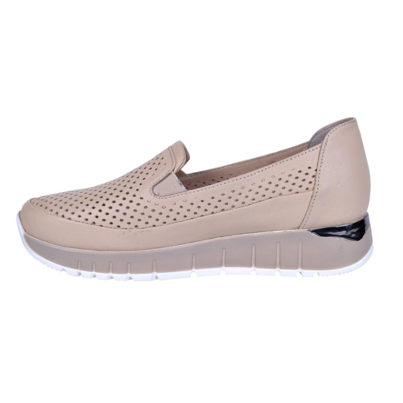Mammamia 285 Bej Kadın Deri Ayakkabı