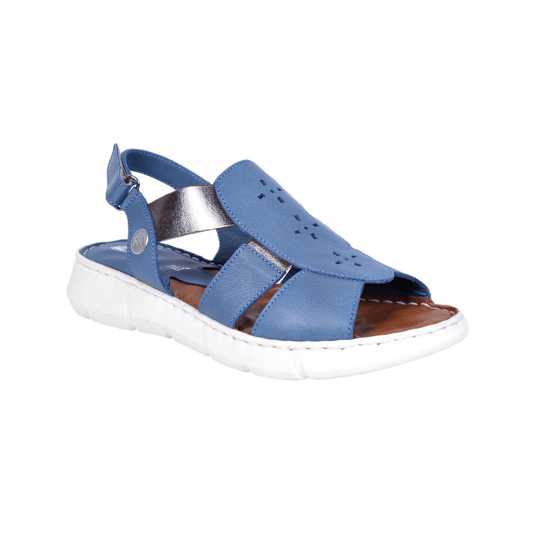 Mammamia 1330 Mavi Kadın Deri Sandalet