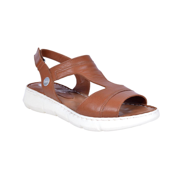 Mammamia 1325 Taba Kadın Deri Sandalet