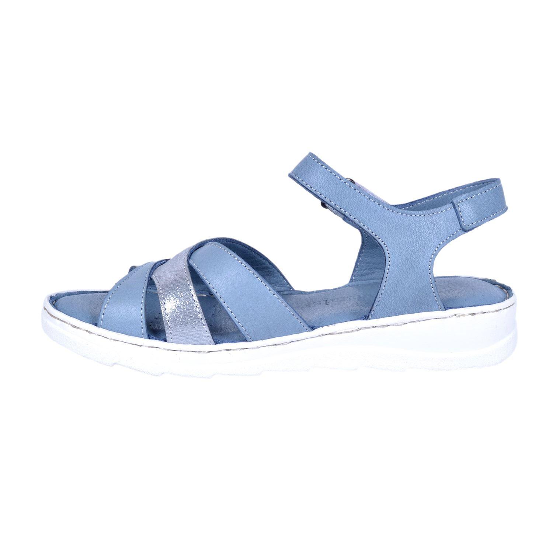 Mammamia 1160 Mavi Kadın Deri Sandalet