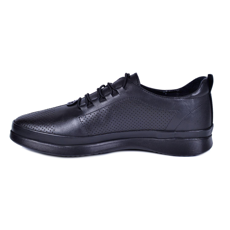 Marcomen 18195 Siyah Erkek Deri Ayakkabı