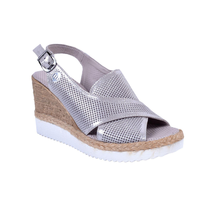 Mammamia 1260 Vizon Kadın Deri Sandalet