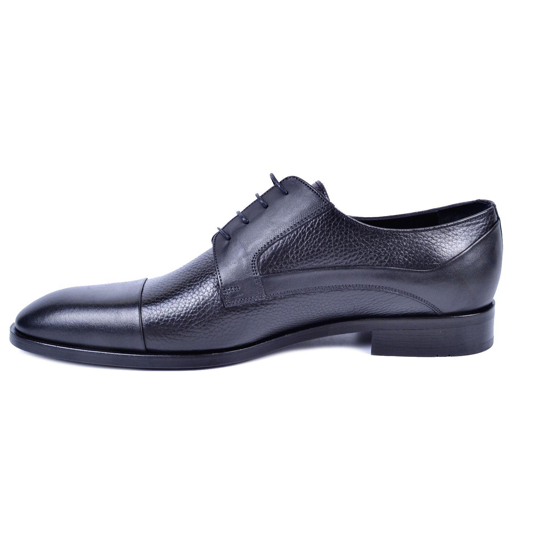 Siyah Erkek Deri Klasik Büyük Numara Ayakkabı