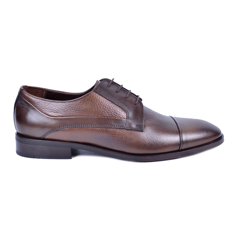 Kahve Erkek Deri Klasik Büyük Numara Ayakkabı