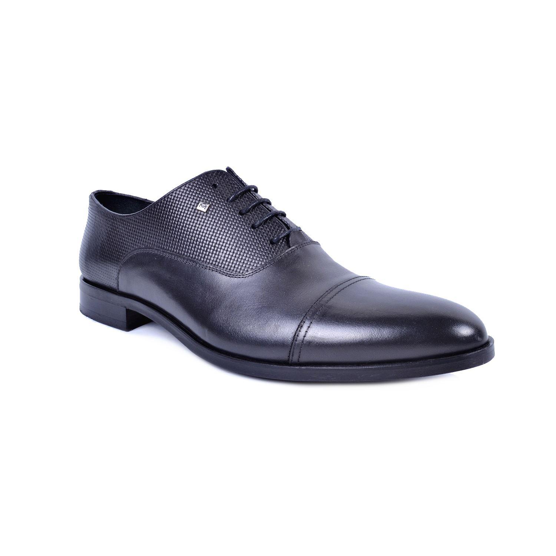 Marcomen 2053 Siyah Erkek Deri Klasik Büyük Numara Ayakkabı
