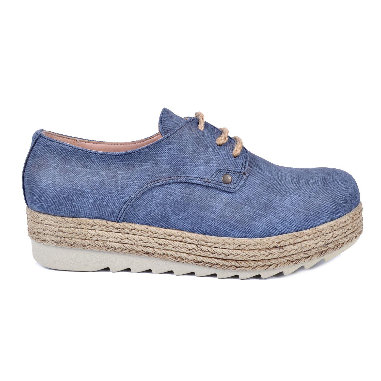 Lacivert Kalın Taban Kadın Sneaker 48950