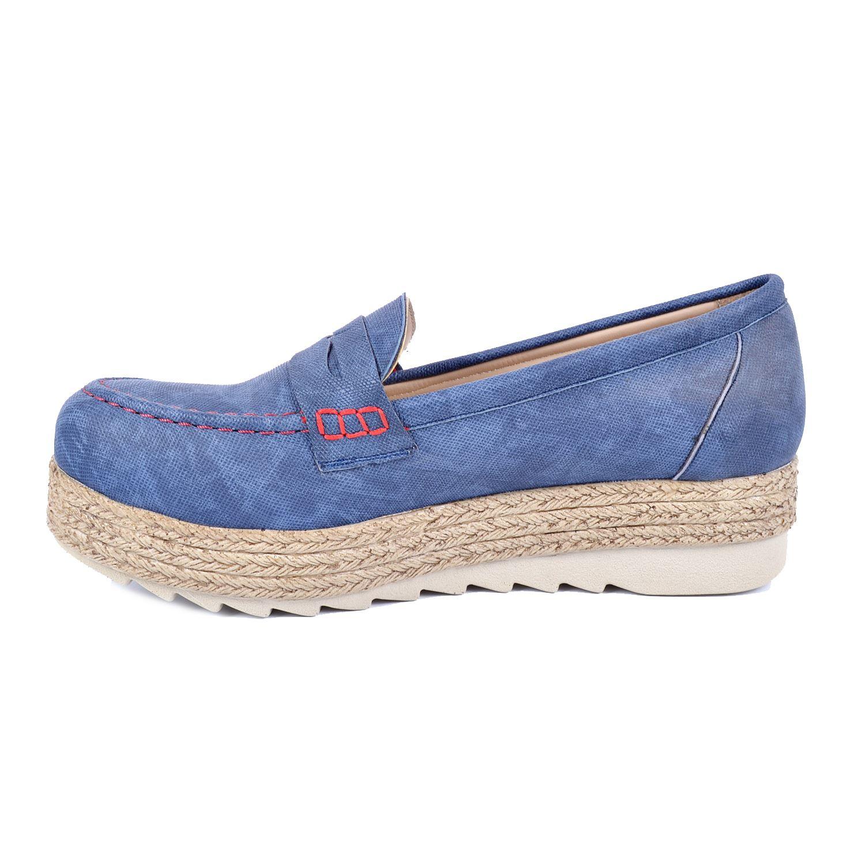 Lacivert Kalın Taban Kadın Sneaker 161