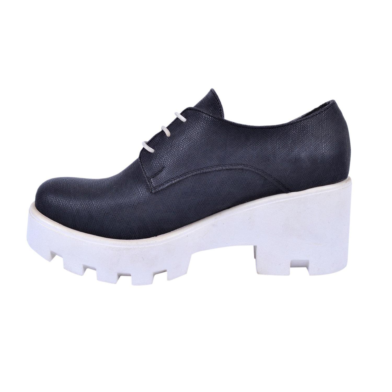 Siyah Kalın Taban Kadın Sneaker 642345