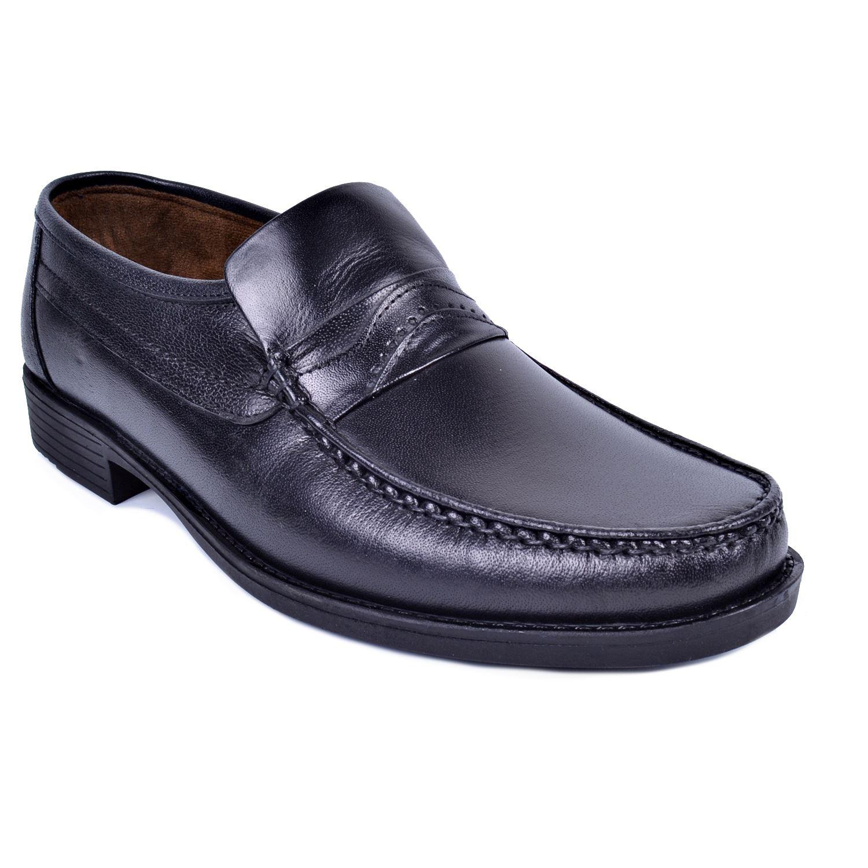İskarpin 819 Siyah Erkek Deri Ayakkabı